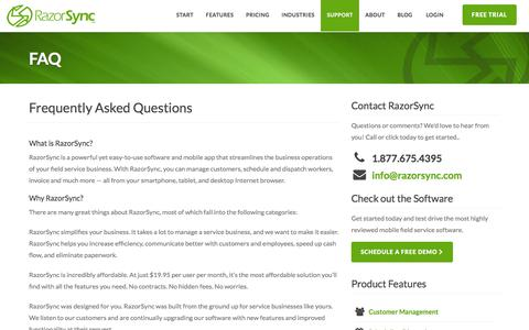 FAQ: Answers to Questions on RazorSync Scheduling & Customer Management Software