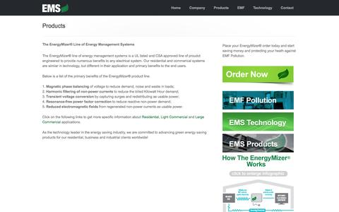 Screenshot of Products Page beatthebill.com - EnergyMizer-  Energy Management Systems (EMS) Products - captured Oct. 2, 2014