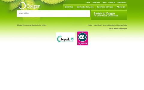 Screenshot of Privacy Page oxigen.ie - privacy-policy | Environmental Compliance | About Us - captured Nov. 2, 2014