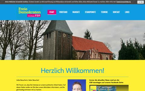 Screenshot of Home Page fdp-isernhagen.de - Start - FDP Isernhagen - captured April 1, 2017