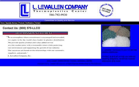 Screenshot of Home Page llewallen.com - Home - captured Oct. 1, 2014