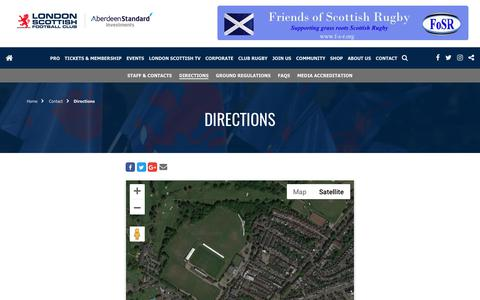 Screenshot of Maps & Directions Page londonscottish.com - London Scottish FC | Directions - captured Sept. 30, 2018