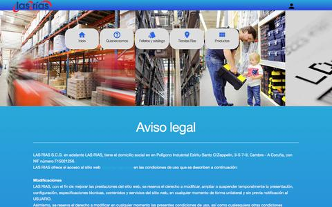 Screenshot of Terms Page las-rias.com - Las Rias Cooperativa - captured July 7, 2017