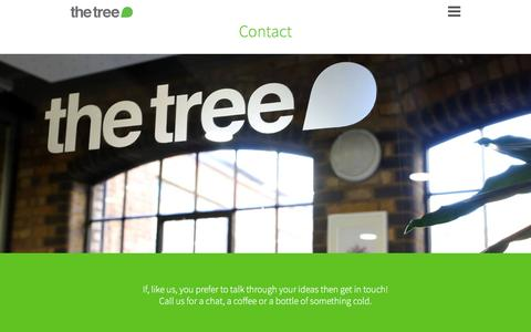 Screenshot of Contact Page thisisthetree.com - The Tree | Contact - captured Feb. 15, 2016