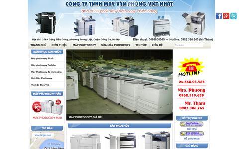 Screenshot of Home Page mayphotocopyvietnhat.com - Máy photocopy, máy photocopy cũ, bán máy photocopy giá rẻ - captured Sept. 18, 2015