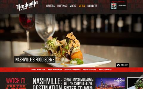 Screenshot of Press Page visitmusiccity.com - Nashville Media Releases, Pictures, News and Press  | Visit Nashville, TN - Music City - captured Feb. 16, 2016