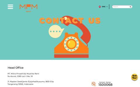Screenshot of Contact Page mpm-rent.com - Contact Us | MPM Rent, We Serve You Better - captured Sept. 26, 2018