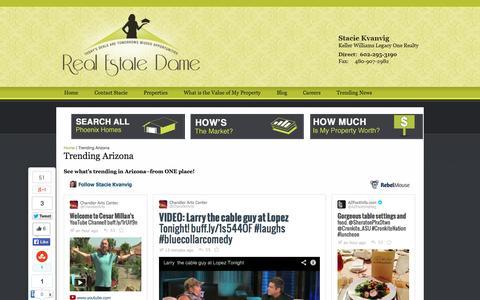 Screenshot of Home Page realestatedame.com - Stacie Kvanvig, Real Estate Dame - captured Oct. 6, 2014