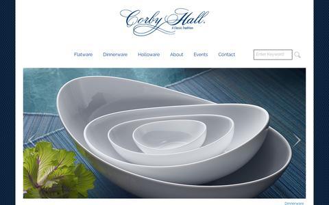 Screenshot of Home Page corbyhall.com - Corby Hall - captured Nov. 12, 2016