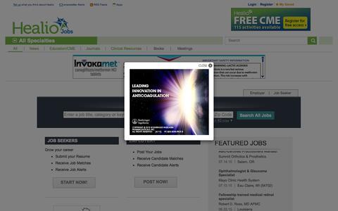 Screenshot of Jobs Page healio.com - Careers   Healio - captured July 20, 2015