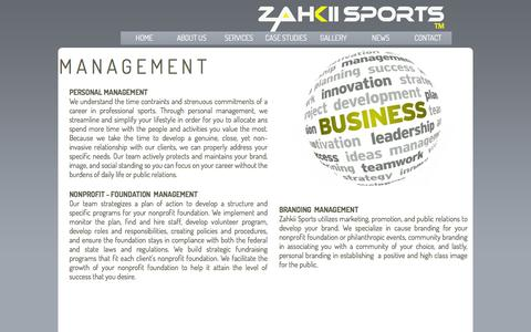 Screenshot of Team Page zahkiisports.com - ZAHKII SPORTS - A MANAGEMENT, MARKETING AND ENTERTAINMENT FIRM MANAGEMENT - captured Jan. 10, 2016