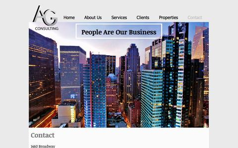 Screenshot of Contact Page agconsultingcorp.com - AG Consulting, LLC   Contact - captured Nov. 19, 2016