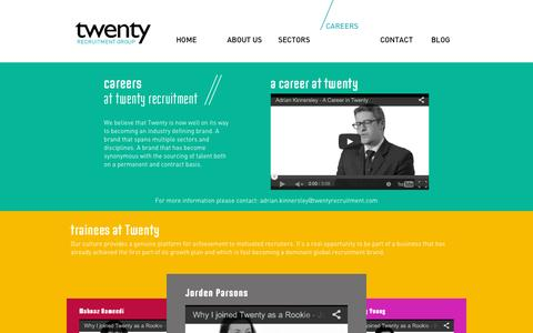 Screenshot of Jobs Page twentyrecruitment.com - Twenty Recruitment, professional recruitment services London, multi-sector recruitment agency London - captured Dec. 3, 2015