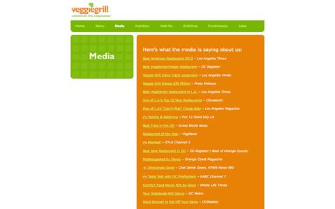 Screenshot of Press Page veggiegrill.com - Media | VeggieGrill - captured Nov. 3, 2014