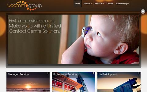 Screenshot of Home Page ucommgroup.com.au - Ucomm Group - captured Jan. 12, 2016