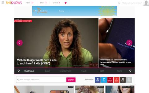 Screenshot of Home Page sheknows.com - Entertainment | Recipes | Love | Contests | Beauty | Parenting - captured Sept. 19, 2014