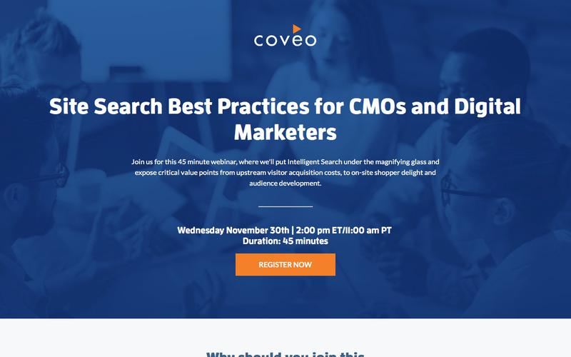 Site Search Best Practices for CMOs and Digital Marketers