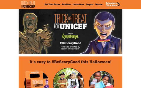 Trick-or-Treat for UNICEF 2017 Homepage | UNICEF USA