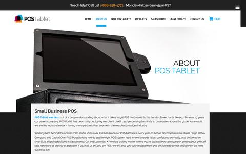 Screenshot of About Page postablet.com - Small Business POS – We Carry All the Top Brands | | POS Tablet - captured Sept. 23, 2014