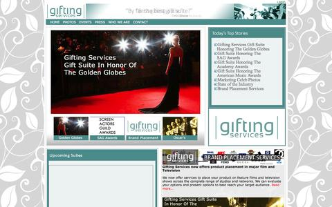 Screenshot of Home Page giftingservices.com - Gifting Services - Gift Suites - captured Sept. 30, 2014
