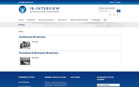 Screenshot of Press Page ib-interview.com - IB Interview Photos : Conférences et Séminaires de préparation aux entretiens - captured Sept. 30, 2014