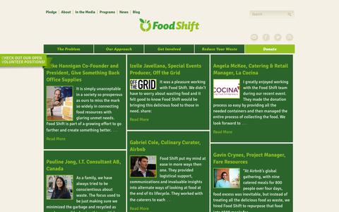 Screenshot of Testimonials Page foodshift.net - Testimonials Archive - Food Shift - captured Sept. 30, 2014