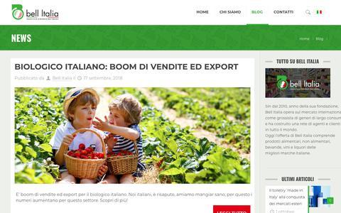 Screenshot of Press Page bell-italia.com - News Archivi - Bell Italia - captured Oct. 5, 2018