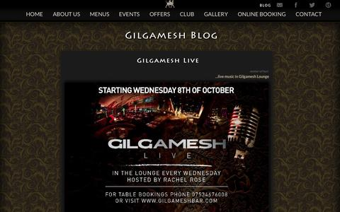 Screenshot of Blog gilgameshbar.com - Gilgamesh - Blog - captured Nov. 3, 2014