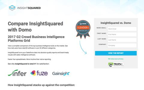 Screenshot of Landing Page insightsquared.com - InsightSquared vs. Domo - captured April 5, 2017