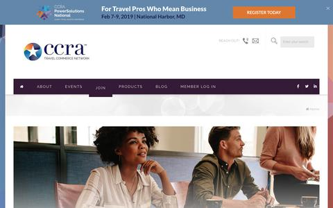 Screenshot of Signup Page ccra.com - Joining CCRA | Membership for Travel Agents and Suppliers - captured Sept. 22, 2018
