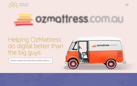 Screenshot of Home Page marketingpartners.com.au - Digital Marketing Done Properly - Marketing Partners - captured Oct. 6, 2014