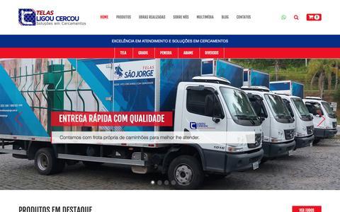 Screenshot of Home Page telasligoucercou.com.br - Telas Ligou Cercou Soluções em cercamentos - Gradil, Telas e Alambrados - captured Nov. 3, 2018