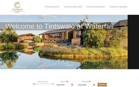 Screenshot of Home Page tintswalo.com - Tintswalo | Lodges - captured Nov. 19, 2016