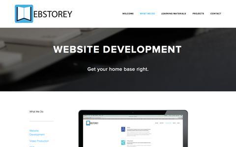 Screenshot of Menu Page webstorey.com - Website Development — Webstorey - captured Oct. 29, 2014