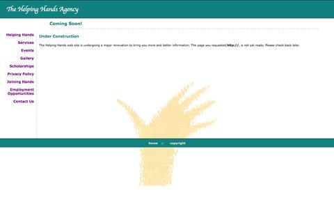 Screenshot of Privacy Page helpinghandsagency.com - Helping Hands Agency - captured Oct. 7, 2014