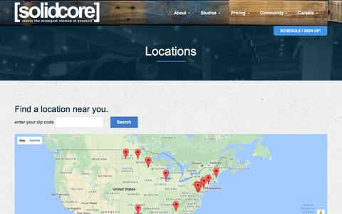 Screenshot of Locations Page solidcore.co - Locations Archive - [solidcore] - captured June 11, 2017