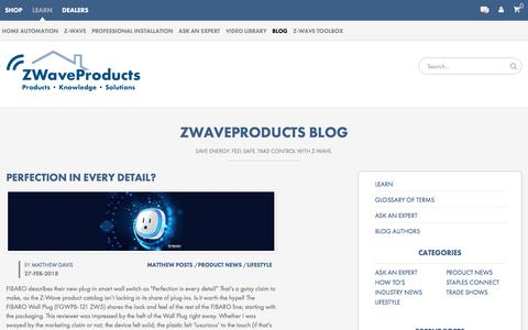 Screenshot of Blog zwaveproducts.com - Z-Wave Blog - Z-Wave Products - captured March 28, 2018