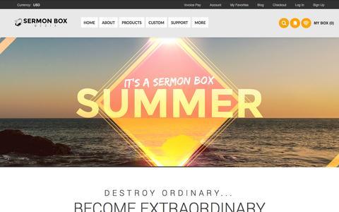 Screenshot of Home Page sermonboxmedia.com - Sermon Box Media - captured Aug. 4, 2015