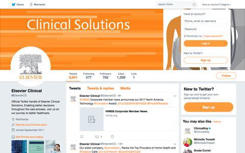 Elsevier Clinical (@ElsevierCS) | Twitter