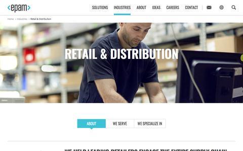 Screenshot of epam.com - Retail & Distribution - captured March 30, 2016