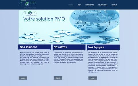 Screenshot of Home Page atom-solutions.fr - atom-solutions HOMEPAGE - captured Sept. 30, 2014