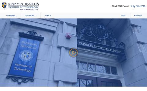 Screenshot of Home Page bfit.edu - Bfit - captured July 25, 2019