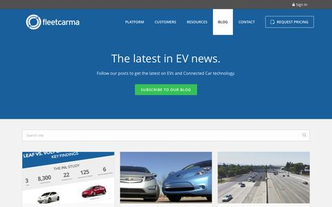 Screenshot of Blog fleetcarma.com - The latest electric vehicle tips, trends, & best practices | FleetCarma - captured Jan. 8, 2016