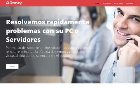 Screenshot of Home Page tecnosop.com - Home - TecnosopTecnosop - Hacemos que la tecnología informática funcione - captured Jan. 13, 2016