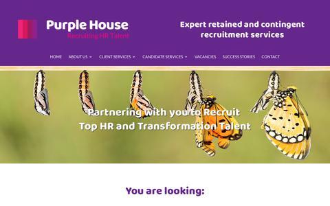 Screenshot of Home Page purplehousehr.com - human resource management - Purple House HR - Bristol - captured Sept. 30, 2018