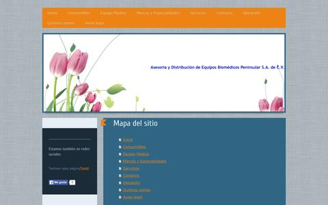 Screenshot of Site Map Page adebcancun.com - ☧ Bienvenido a ADEB. - captured Feb. 6, 2016