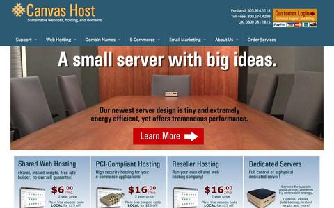 Screenshot of Home Page taproothosting.com - Sustainable web hosting - Canvas Host - captured Sept. 30, 2014