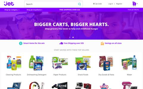 Screenshot of Home Page jet.com - Jet.com - captured Nov. 23, 2015