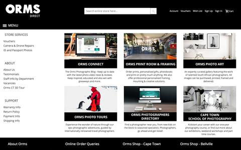 Screenshot of Services Page ormsdirect.co.za - More Services - captured Oct. 1, 2018