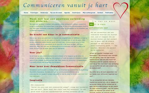 Screenshot of Home Page communicerenvanuitjehart.nl - Home | Communiceren vanuit je hart - De Bilt - captured Oct. 5, 2014